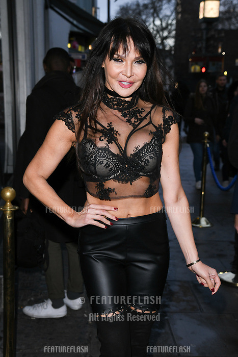 Lizzie Cundy arriving for James Ingham's Jog on to Cancer 2018 at Cafe de Paris, London, UK. <br /> 04 April  2018<br /> Picture: Steve Vas/Featureflash/SilverHub 0208 004 5359 sales@silverhubmedia.com