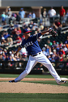 Connor Sadzeck - Texas Rangers 2016 spring training (Bill Mitchell)