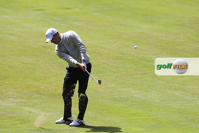 Charl Schwartzel (RSA) plays his 2nd shot on the 18th hole during Thursday's Round 1 of the 112th US Open Championship at The Olympic Club, San Francisco,  California, 14th June 2012 (Photo Eoin Clarke/www.golffile.ie)