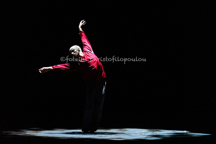 London, UK. 22.11.2017. 'Men in Motion' Ivan Putrov's celebration of the male dancer returns to the London Coliseum, 22-23 Nov 2017. Photo shows: Daniel Proietto in 'After Light' by Russell Maliphant.  Photo - © Foteini Christofilopoulou.
