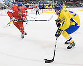 Adam Polasek (Czech Republic - 3), Magnus Svensson Pääjärvi (Sweden - 20) - Sweden defeated the Czech Republic 4-2 at the Urban Plains Center in Fargo, North Dakota, on Saturday, April 18, 2009, in their final match of the 2009 World Under 18 Championship.
