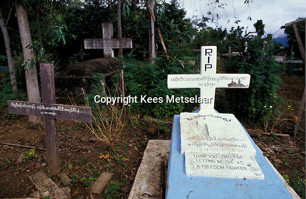 Burma,Myanmar, Manerplaw, September 1990  Visit Karen stronghold in Manerplaw, just over the border from Thailand. Photo Kees Metselaar