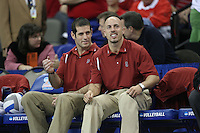 16 December 2006: Stanford Cardinal athletic trainer Eitan Gelber and strength & conditioning coach Juan Pablo Reggiardo during Stanford's 30-27, 26-30, 28-30, 27-30 loss against the Nebraska Huskers in the 2006 NCAA Division I Women's Volleyball Final Four Championship match at the Qwest Center in Omaha, NE.