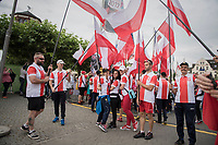 "Polish fans/flags<br /> <br /> ""Le Grand Départ"" <br /> 104th Tour de France 2017 <br /> Team Presentation in Düsseldorf/Germany"