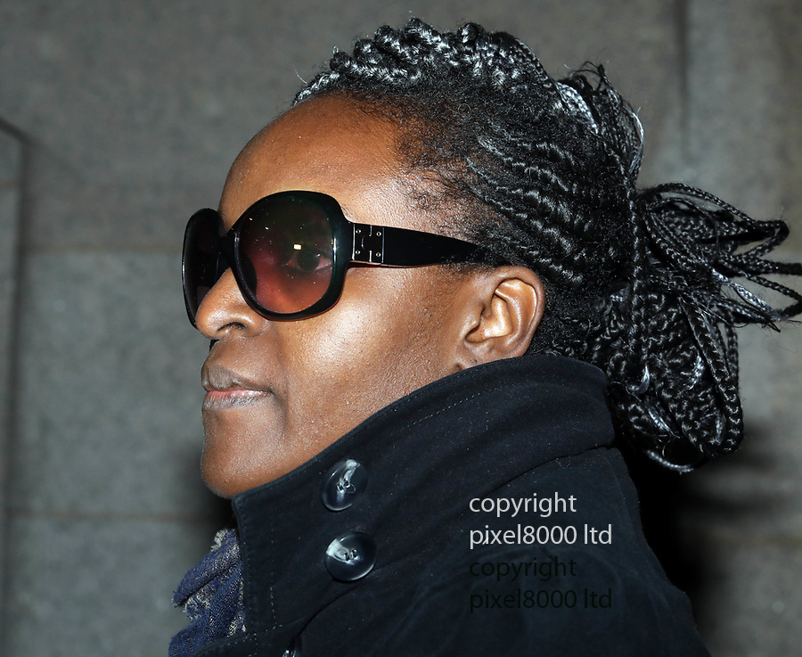 Pic shows: Fiona Onasanya leaves the Old Bailey in London  after appearing in court denying<br /> against  a charge of perverting the course of justice.<br /> <br /> She left with woman believed to be her mother, right<br /> <br /> <br /> <br /> pic by Gavin Rodgers/Pixel8000