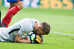 Atletico de Madrid's Jan Oblak during La Liga match between Atletico de Madrid and Malaga CF at Wanda Metropolitano in Madrid, Spain September 16, 2017. (ALTERPHOTOS/Borja B.Hojas)