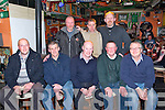front l-r Liam Nolan, Michael Leahy, Noel Lawlor, John Boyle Tom O'Donald, Back l-r Jimmy Doyle, Ger Moran, Andrew Boyle at the Sixth year Reunion for former Denny's Bacon Factory Workers at the Huddle Bar on Saturday.