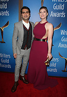BEVERLY HILLS, CA - FEBRUARY 11:  Kumail Nanjiani and Emily V. Gordon at the 2018 Writers Guild Awards L.A. Ceremony at The Beverly Hilton Hotel on February 11, 2018 in Beverly Hills, California. <br /> CAP/MPI/FS<br /> &copy;FS/MPI/Capital Pictures