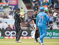 Ross Taylor (New Zealand) uses the review system for the decision against him during India vs New Zealand, ICC World Cup Semi-Final Cricket at Old Trafford on 9th July 2019