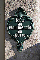 street sign rua do commercio do porto porto portugal