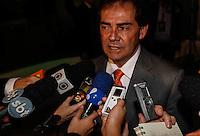SAO PAULO, SP, 02 AGOSTO 2012 - ELEICOES 2012 - DEBATE BAND - PREFEITURA DE SP - O candidato a prefeitura de Sao Paulo pelo Paulinho da Forca durante debate da Tv Bandeirantes de Sao Paulo, nesta quinta-feira, na regiao sul da capital paulista. (FOTO: VANESSA CARVALHO / BRAZIL PHOTO PRESS).