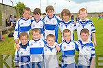 FOOTBALL FUN: The Castleisland Desmonds U8's team having great fun at the John Mitchels blitz on Saturday front l-r: Don Geaney, Shane Fagan, Mark Hickey, P J Curtin and Tadhag O'Shea. Back l-r: Ethan Reidy, Charlie Conway, Donal Gearney, Jack Reidy and Niall Fagan.