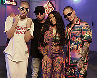 MIAMI, FLORIDA - MAY 29, 2018 Bad Bunny Eif Rivera, Cardi B &amp; J Balvin on the set of the I Like It video shoot March 28, 2018 in Miami, Florida. <br /> CAP/MPI/WG<br /> &copy;WG/MPI/Capital Pictures