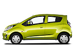 Driver side profile view of a 2011 Chevrolet Spark LS 5 Door Hatchback.