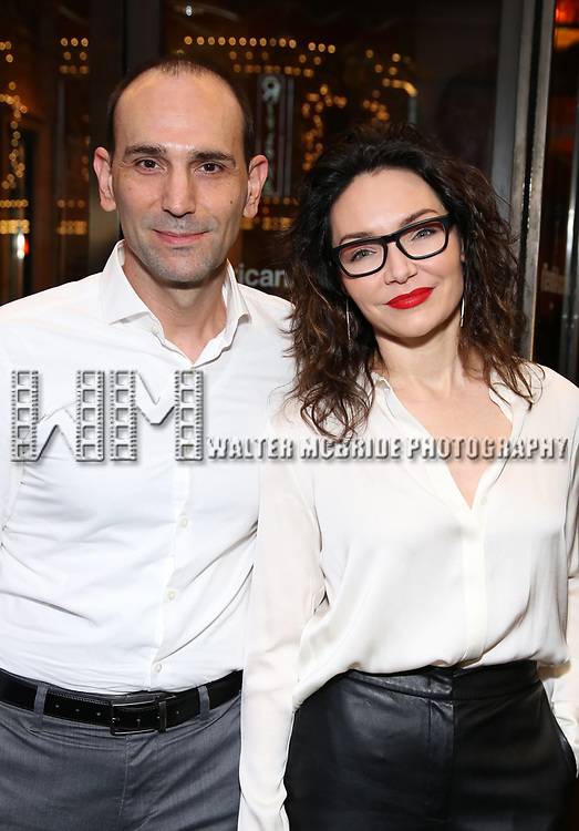 """Stephen DeRosa and Katrina Lenk Attends the Broadway Opening Night of """"All My Sons"""" at The American Airlines Theatre on April 22, 2019  in New York City."""
