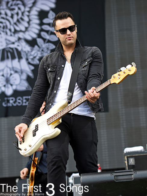 Alex Levine of The Gaslight Anthem performs during the 2013 Budweiser Made in America Festival in Philadelphia, Pennsylvania.