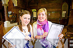 FIRST CLASS RESULTS: Orla O'Carroll (Tralee) and Lisa Dowling (Castlegregory) students of Brookfield College both scoring the max 600 points in their Leaving Certificate results on Wednesday.