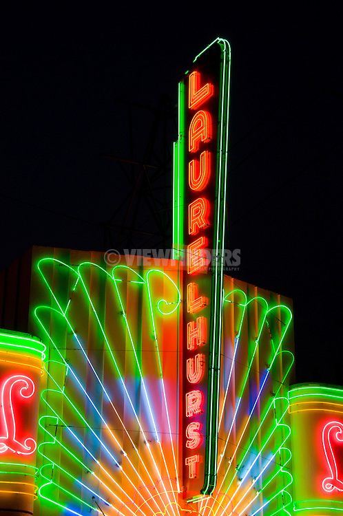 Laurelhurst Theater Neon Sign, Portland, Oregon