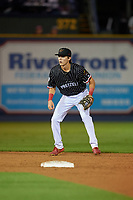 Reading Fightin Phils shortstop Nick Maton (10) during an Eastern League game against the Trenton Thunder on August 16, 2019 at FirstEnergy Stadium in Reading, Pennsylvania.  Trenton defeated Reading 7-5.  (Mike Janes/Four Seam Images)