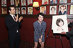 Robert Fairchild and Leanne Cope attend the 'An American In Paris' Sardi's Caricature Unveiling at Sardi's on May 28, 2015 in New York City.