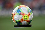 UEFA EURO 2020 ball during UEFA EURO 2020 Qualifier match between Spain and Sweden at Santiago Bernabeu Stadium in Madrid, Spain. June 10, 2019. (ALTERPHOTOS/A. Perez Meca)