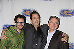 """Michael Mayer (director) and Tony Kushner (playwright) &  at the Opening Night party of Signature Theatre Company's """"The Illusion"""" on June 5, 2001 at the West Bank Cafe with the play at the Peter Norton Space, New York City, New York.  (Photo by Sue Coflin/Max Photos)"""