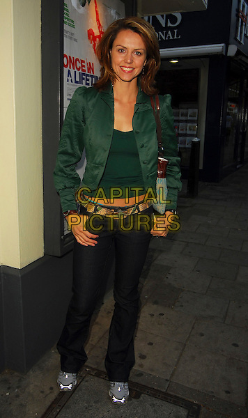 "BEVERLEY TURNER.""Once in a Lifetime: The Extraordinary Story of the New York Cosmos"" - VIP screenng, Screen On The Green, London, UK..May 15th, 2006.Ref: CAN.full length green jacket black trousers.www.capitalpictures.com.sales@capitalpictures.com.©Capital Pictures"