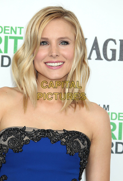 1 March 2014 - Santa Monica, California - Kristen Bell. 2014 Film Independent Spirit Awards held at Santa Monica Beach. <br /> CAP/ADM/RE<br /> &copy;Russ Elliot/AdMedia/Capital Pictures