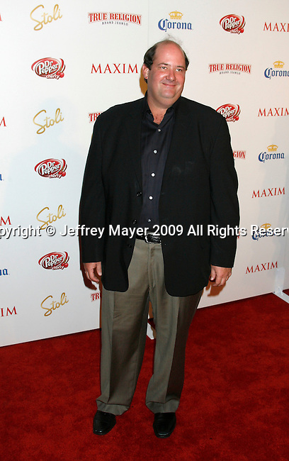 SANTA MONICA, CA. - May 13: Brian Baumgartner arrives at the Maxim's 10th Annual Hot 100 Celebration at The Barker Hangar on May 13, 2009 in Santa Monica, California.