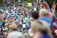 up Libby Hill<br /> <br /> Elite Men Road Race<br /> UCI Road World Championships Richmond 2015 / USA