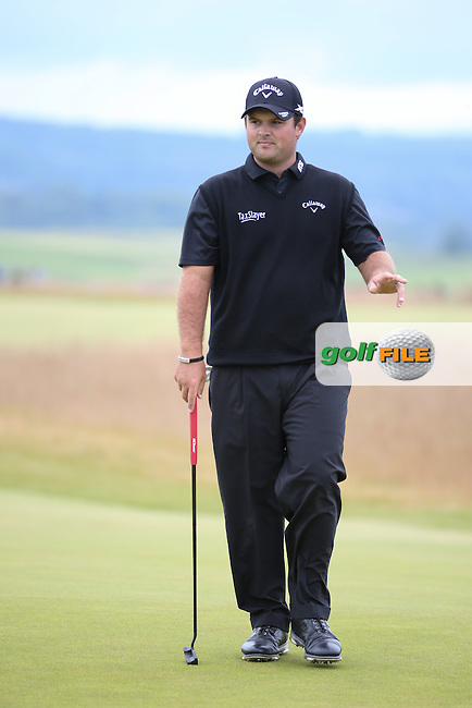 Patrick Reed (USA) during Round Three of the 2016 Aberdeen Asset Management Scottish Open, played at Castle Stuart Golf Club, Inverness, Scotland. 09/07/2016. Picture: David Lloyd | Golffile.<br /> <br /> All photos usage must carry mandatory copyright credit (&copy; Golffile | David Lloyd)