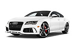 Stock pictures of low aggressive front three quarter view of 2015 Audi RS7  quattro tiptronic Prestige 5 Door Hatchback
