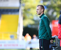 20191022 – OOSTENDE , BELGIUM : Belgian referee Kevin Debeuckelare pictured during a soccer game between Club Brugge KV and Paris Saint-Germain ( PSG )  on the third matchday of the UEFA Youth League – Champions League season 2019-2020 , thuesday  22 th October 2019 at the Versluys Arena in Oostende  , Belgium  .  PHOTO SPORTPIX.BE | DAVID CATRY