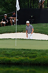 Hunter Mahon (USA) playing out of the bunker on the 16th green on day 1 of the World Golf Championship Bridgestone Invitational, from Firestone Country Club, Akron, Ohio. 4/8/11.Picture Fran Caffrey www.golffile.ie