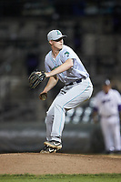 Lynchburg Hillcats relief pitcher Dakody Clemmer (31) in action against the Winston-Salem Dash at BB&T Ballpark on May 9, 2019 in Winston-Salem, North Carolina. The Dash defeated the Hillcats 4-1. (Brian Westerholt/Four Seam Images)