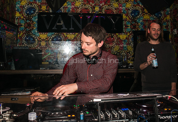 LAS VEGAS, NV - March 19, 2016: Wooden Wisdom: Elijah Wood and Zach Cowie DJ set at Vanitty Nightclub at Hard Rock Hotel & Casino in Las Vegas, NV on March 19, 2016.  Credit: GDP Photos/ MediaPunch