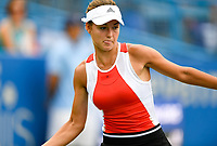 Washington, DC - August 3, 2019: Anna Kalinskaya (RUS) in action against Jessica Pegula (USA) during the Citi Open WTA Singles Semi Finals at Rock Creek Tennis Center, in Washington D.C. (Photo by Philip Peters/Media Images International)