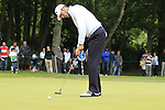 Alvaro Quiros (ESP) takes his putt on the 1st green during the Final Day of the BMW PGA Championship Championship at, Wentworth Club, Surrey, England, 29th May 2011. (Photo Eoin Clarke/Golffile 2011)