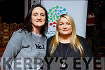 Gemma Smith and Rachel O'Brien help launch the Acquired Brain Injury Ireland Castleisland Branch fundraiser in Kirby's Bar in Ballyheigue on Monday.