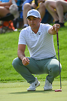 Jason Day (AUS) visualizes his putt on 12 during 1st round of the World Golf Championships - Bridgestone Invitational, at the Firestone Country Club, Akron, Ohio. 8/2/2018.<br /> Picture: Golffile | Ken Murray<br /> <br /> <br /> All photo usage must carry mandatory copyright credit (&copy; Golffile | Ken Murray)