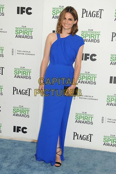 1 March 2014 - Santa Monica, California - Stana Katic. 2014 Film Independent Spirit Awards - Arrivals held at Santa Monica Beach. <br /> CAP/ADM/BP<br /> &copy;Byron Purvis/AdMedia/Capital Pictures