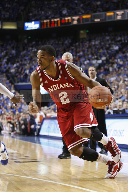 Indiana forward Christian Watford tries to penetrate the key during the first half of UK's home game against Indiana on Dec. 11, 2010. UK defeated Indiana 81-62. Photo by Brandon Goodwin | Staff