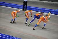 SCHAATSEN: HEERENVEEN: 17-06-2014, IJsstadion Thialf, Zomerijs training, Jong Oranje, ©foto Martin de Jong