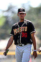 Anuery Rodriguez / Modesto Nuts..Photo by:  Bill Mitchell/Four Seam Images