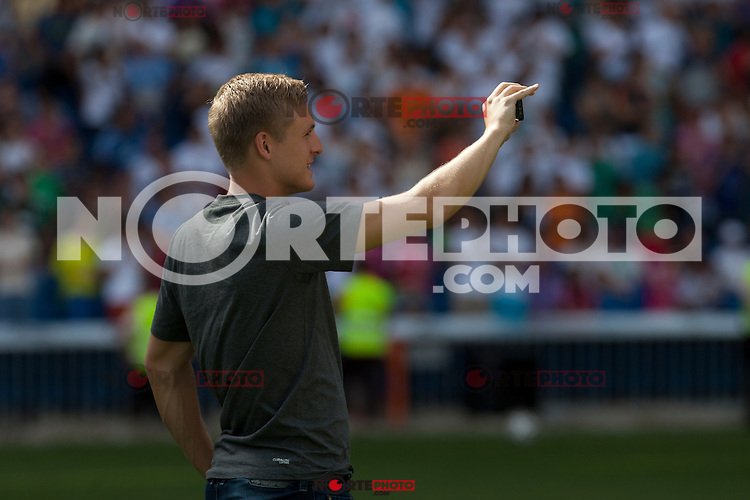 Toni Kroos brother during the official presentation of Toni Kroos as new player of Real Madrid football club in Santiago Bernabeu stadium in Madrid, Spain. July 17, 2014. (ALTERPHOTOS/Caro Marin)