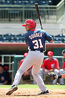 Washington Nationals outfielder Randolph Oduber #31 during an Instructional League game against the Houston Astros at Osceola County Stadium on September 26, 2011 in Kissimmee, Florida.  (Mike Janes/Four Seam Images)