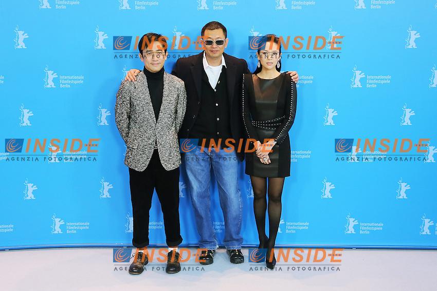 Tony Leung Chiu Wai, Wong Kar Wai and Zhang Ziyi.Berlin 07/02/2013 63th Berlinale.'The Grandmaster' photocall .foto Mark Cape/Insidefoto