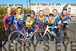 TEAM: The Earl of Desmond cycle team who took part in the Matt Lacey cup cycle race on the Tralee -Dingle road, on Sunday, L-r: Colm Mannix, Paul Lynch, Pio Boyle, Colin Duffin, Michael Leahy, Denis Keane, Daniel Wallace and Peter McGuinness.................................. ....