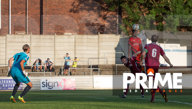 Action during the 2018/19 Pre Season Friendly match between Chesham United and Wycombe Wanderers at the Meadow , Chesham, England on 24 July 2018. Photo by Andy Rowland.