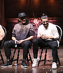 "Anthony Lee Medina and Giuseppe Bausilio during the eduHAM Q & A before The Rockefeller Foundation and The Gilder Lehrman Institute of American History sponsored High School student #EduHam matinee performance of ""Hamilton"" at the Richard Rodgers Theatre on November 20, 2019 in New York City."